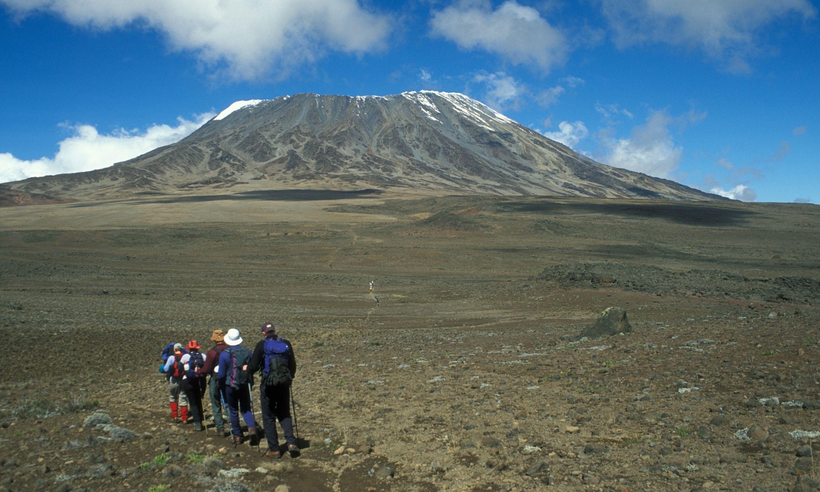 Trekkers on Mount Kilimanjaro (Dreamstime)