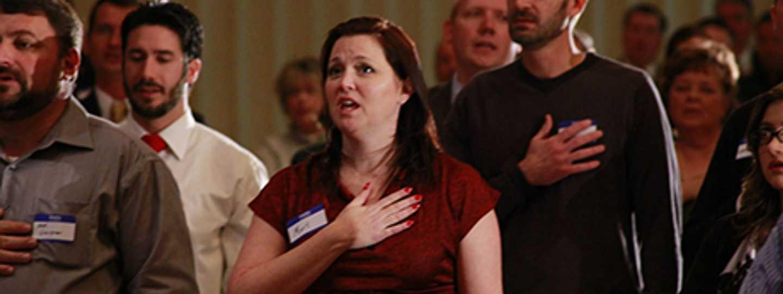 Anthem singing (Michael Jolley via Flickr)