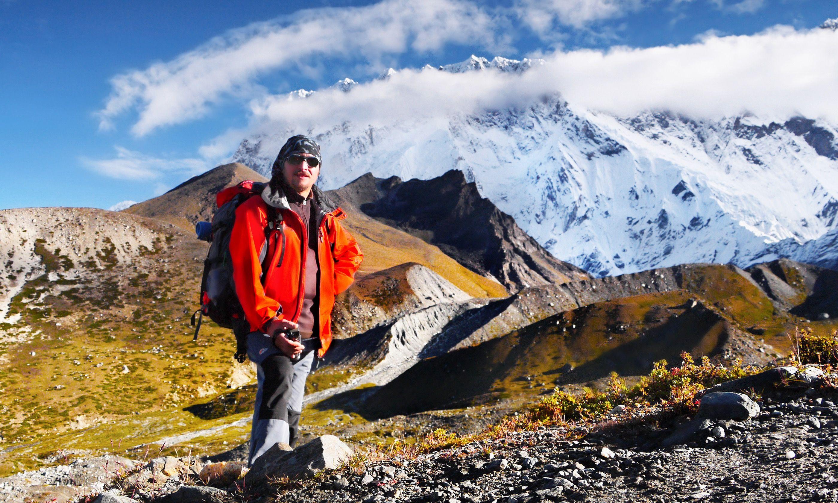 Climber returning from Island Peak (Dreamstime)