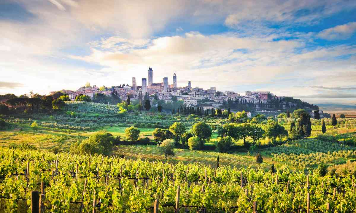 Approaching San Gimignano (Dreamstime)