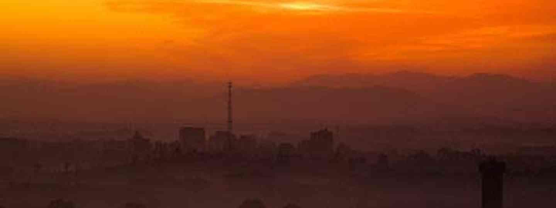 Sunrise over Pyongyang (yeowatzup)