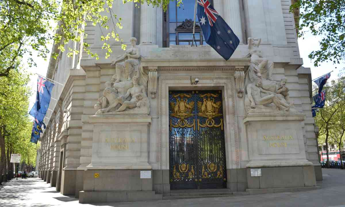 The exterior of Australia House (Dreamstime)