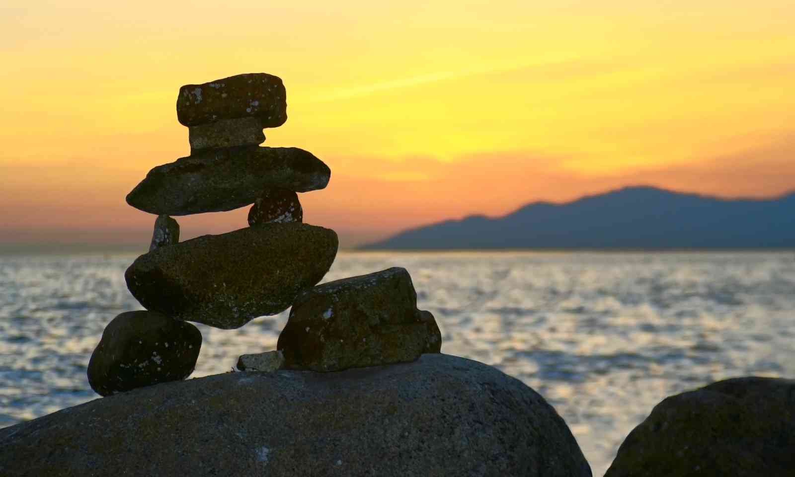 Traditional native rock statue, Canada (Dreamstime)