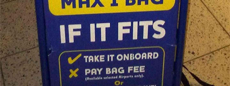 RyanAir baggage rack (Peter Moore)