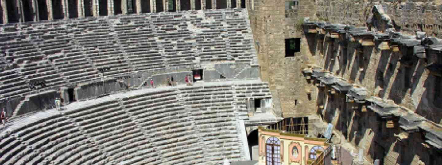 The Aspendos theatre is famous for its magnificent acoustics (archer10 (Dennis))