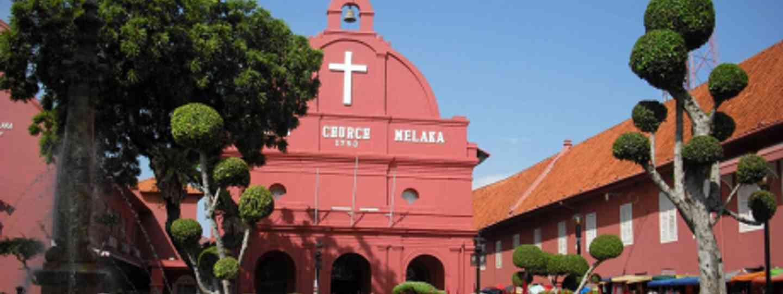 The Dutch influenced Christ Church in Melaka (Auswandern Malaysia)