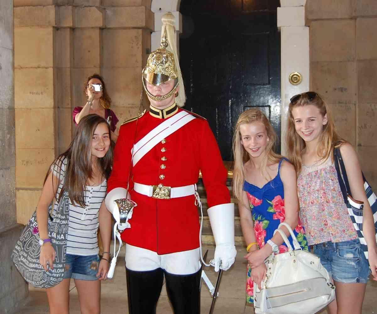 Posing with a Royal Guard
