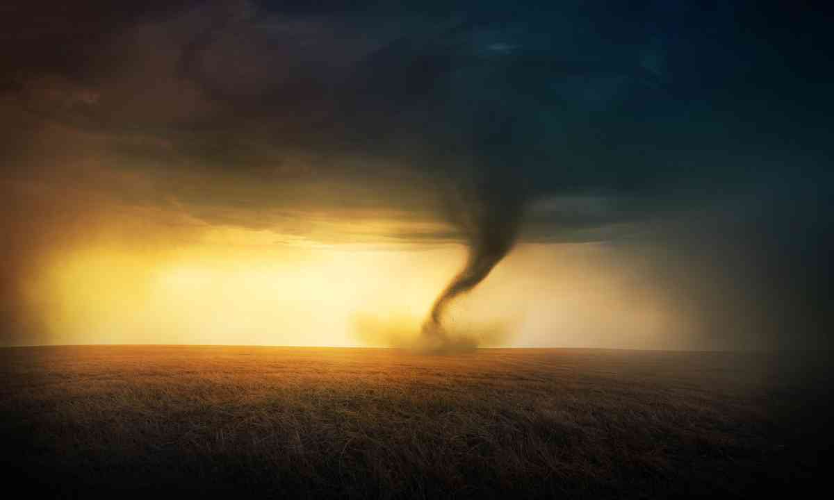 A tornado at sunset (Dreamstime)
