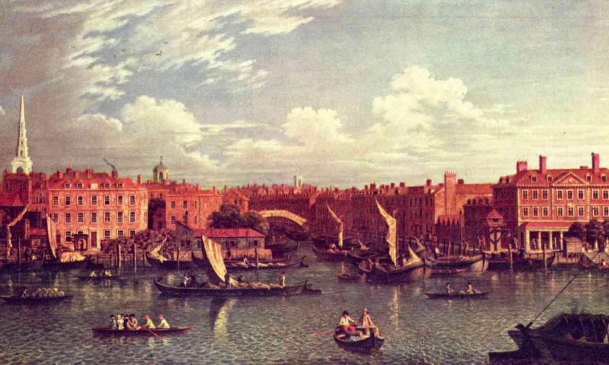 The entrance to the River Fleet (Public Domain: Samuel Scott)