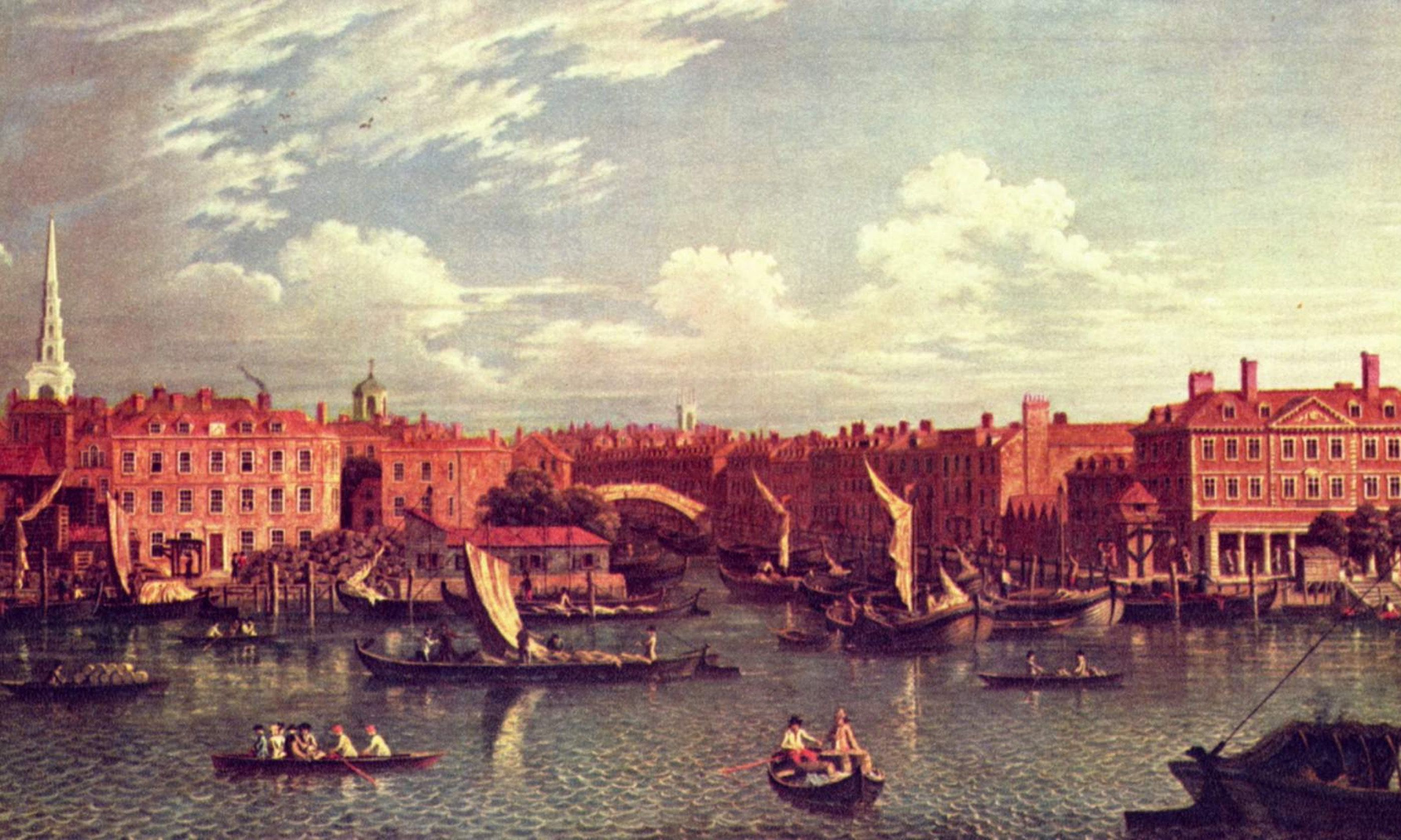 The entrance to the River Fleet (Public Domain: Samuel Scott)