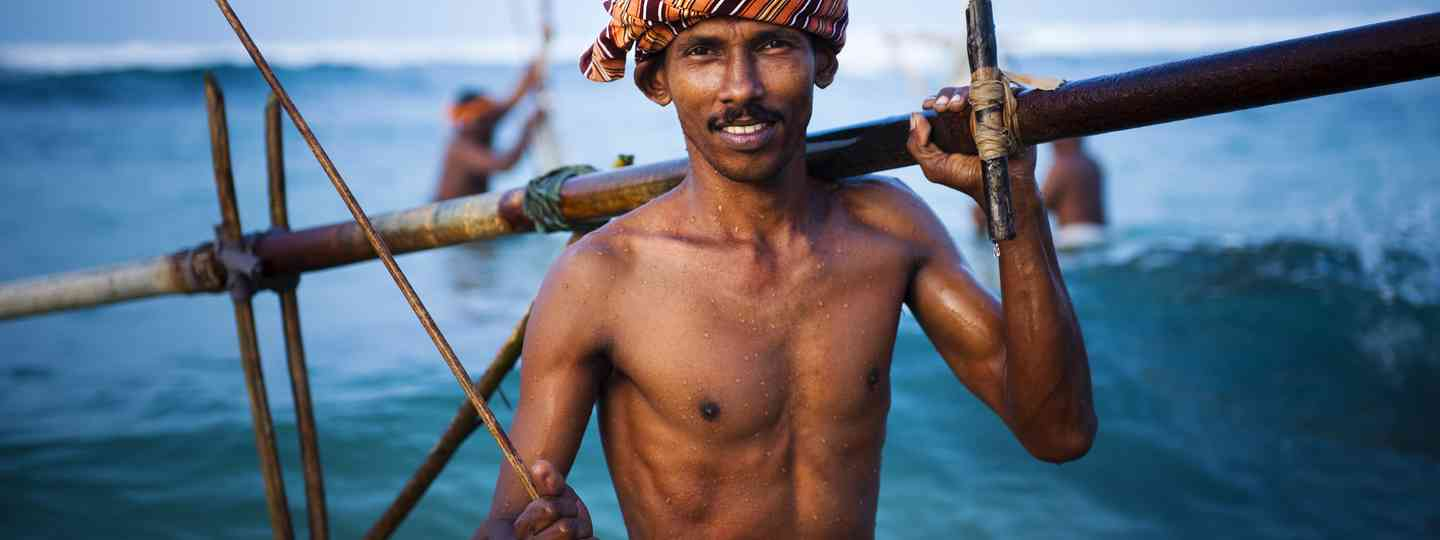 Smiling fisherman (From shutterstock.com: see below)