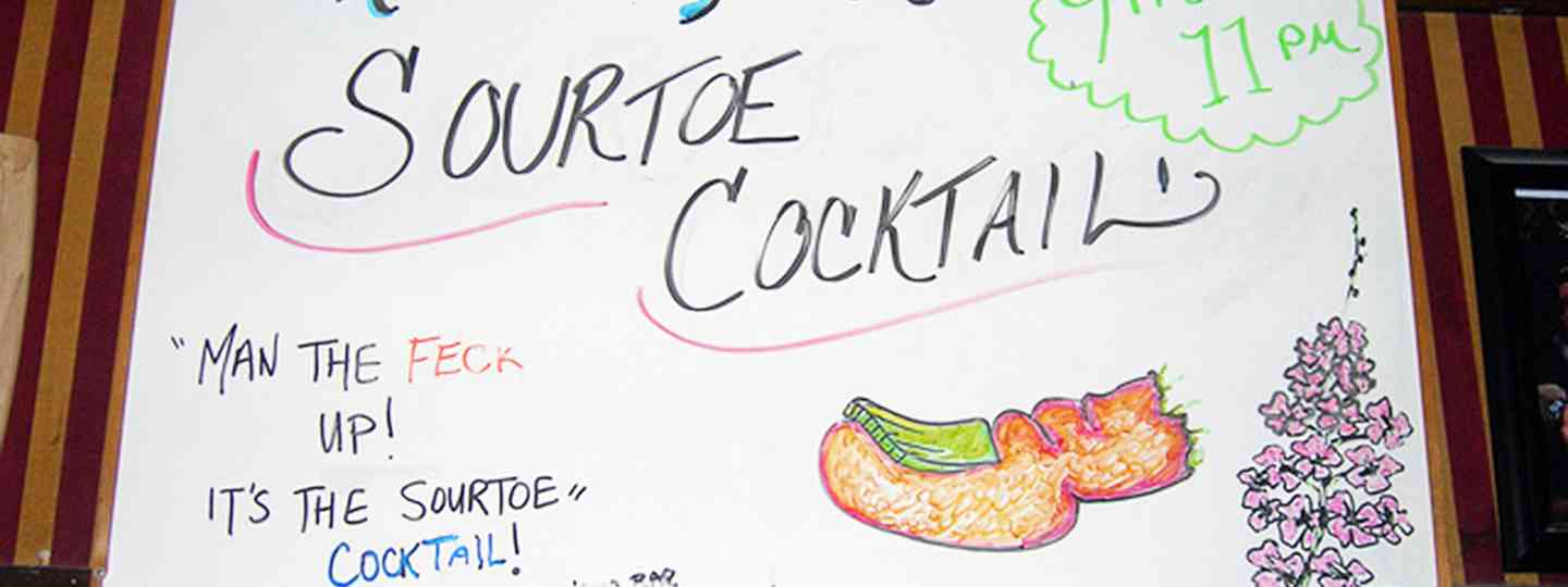 Sour Toe Cocktail Sign (Jimmy Emerson/Flickr)