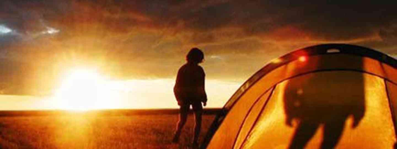 Tent at sunset (Alastair Humphreys)