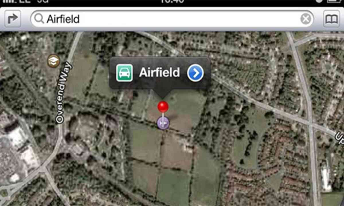 Apple maps airfield