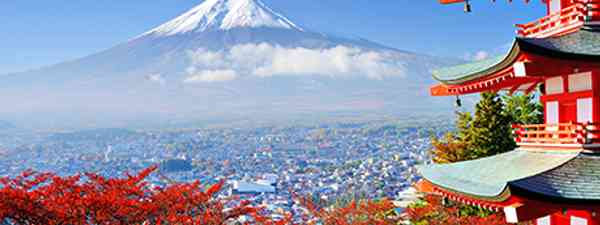 Temple and Mount Fuji (Shutterstock.com. See credit below)