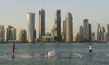 Floating court, Doha