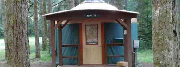 Yurt in Oregon (Helen Moat)