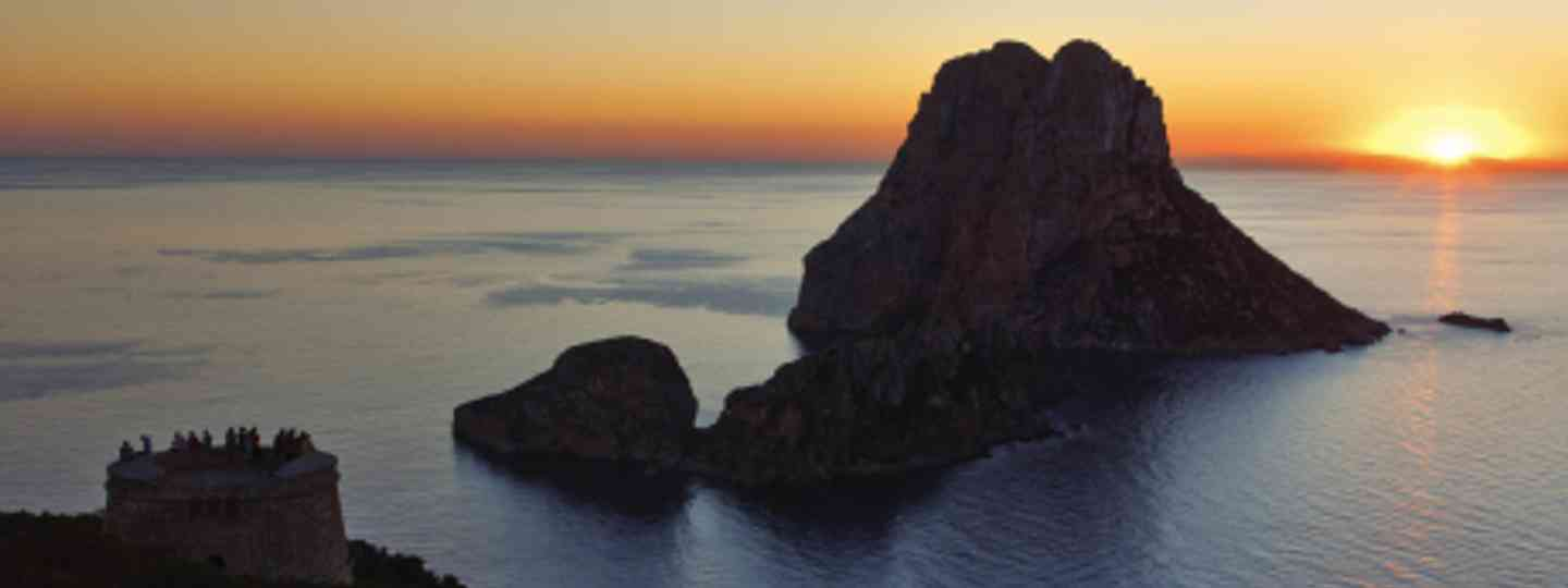 The myth-shrouded Es Vedra rock resembles a slumbering dragon (Peter Mallet)