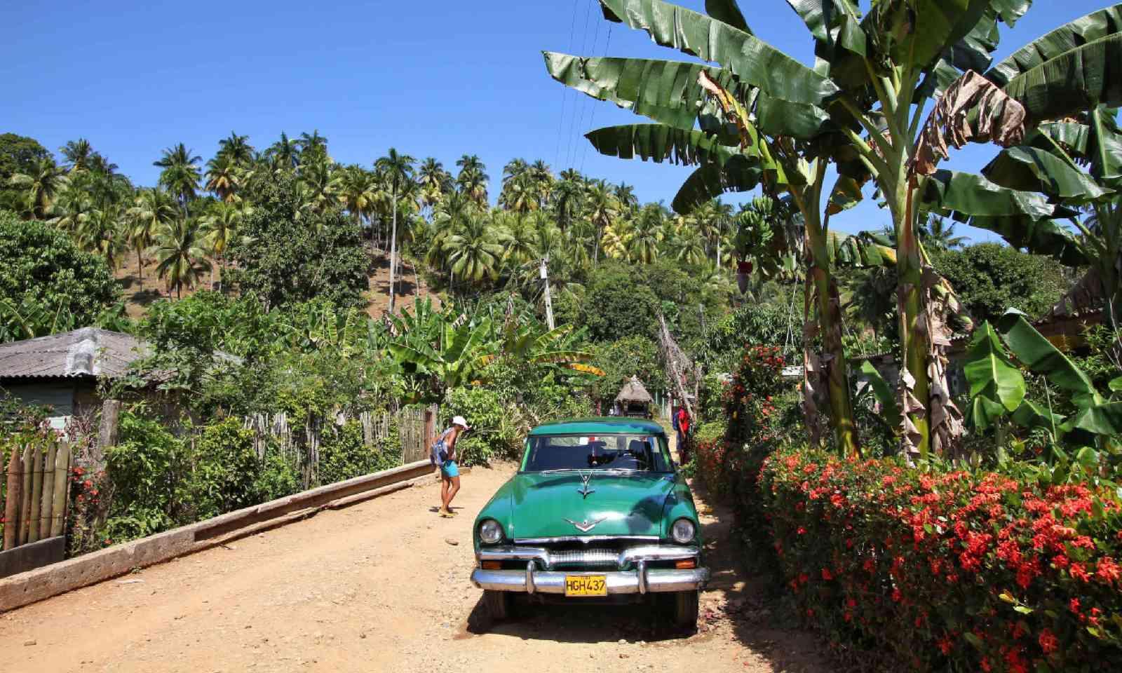 Oldtimer car in Baracoa, Cuba (Shutterstock)