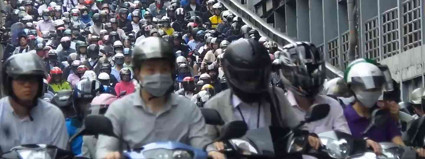 Taiwanese scooter riders (Screenshot from YouTube clip)