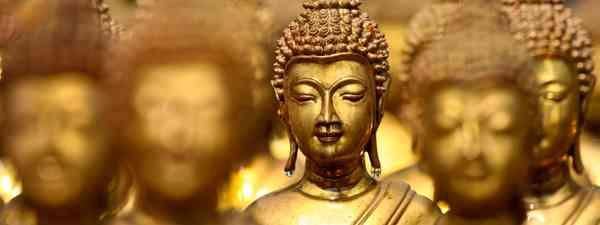 Golden Buddhas, Thailand (Shutterstock: see caption below)