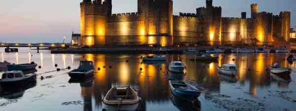 Caernarfon castle, North Wales (Shutterstock: see credit below)