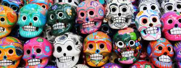 Colourful skulls on the Day of the Dead (Shutterstock: see credit below)