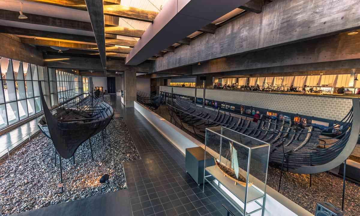 Inside the Roskilde Viking Ship Museum (Dreamstime)