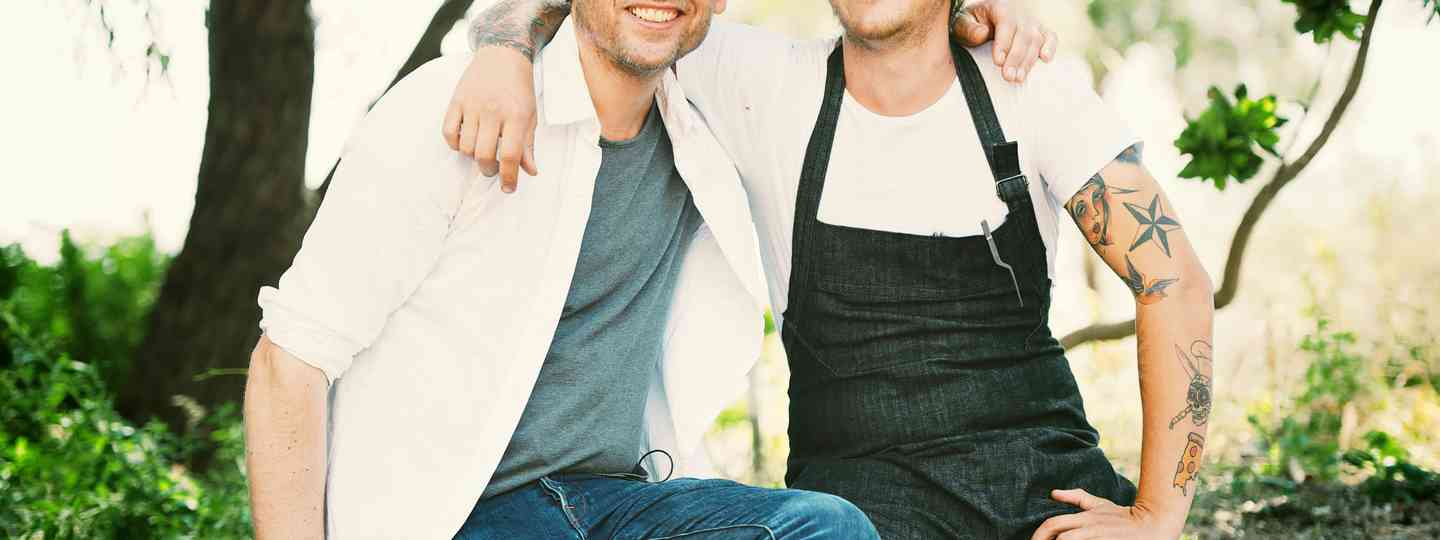 Alex James and Matt Stone discover great West Australian food (Russel Lord)