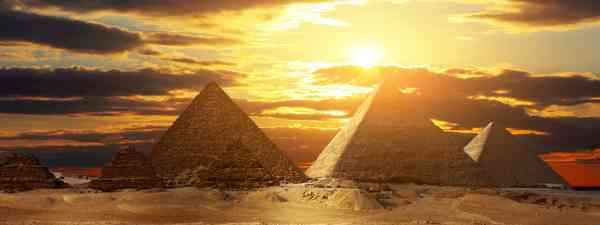 The pyramids at sunset (Shutterstock: see credit below)