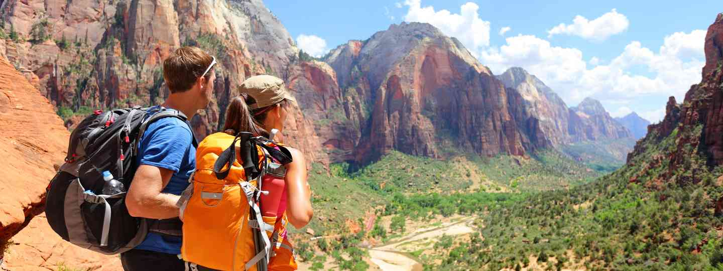 Hiking in Zion National Park (Dreamstime)
