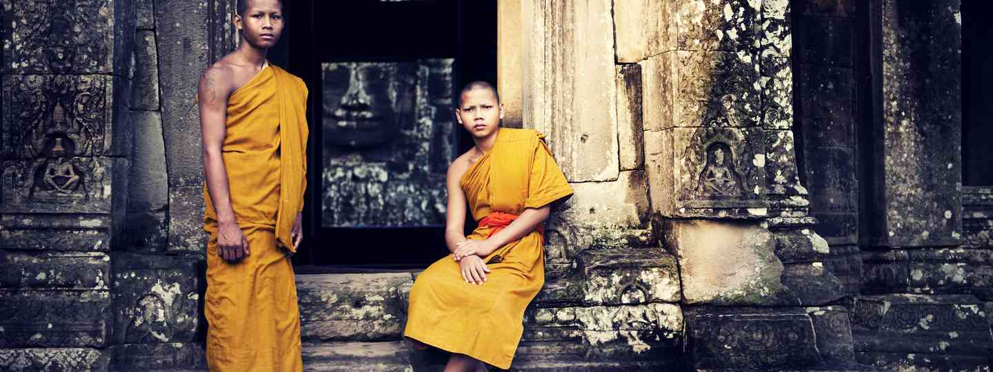 Monks, Angkor Wat (Shutterstock: see credit below.)