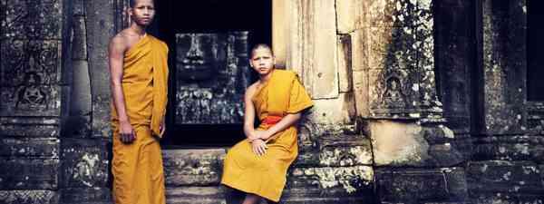 Monks, Angkor Wat (Shutterstock: see credit below.)