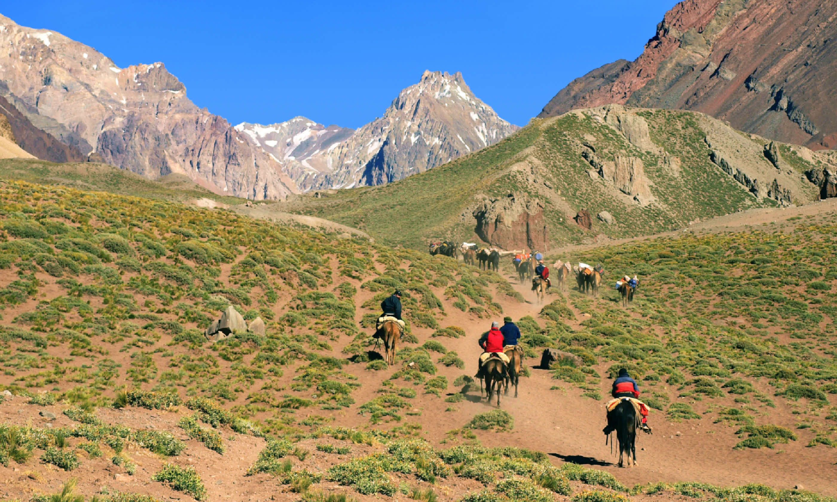 Horseriding in the Andes (Shutterstock)