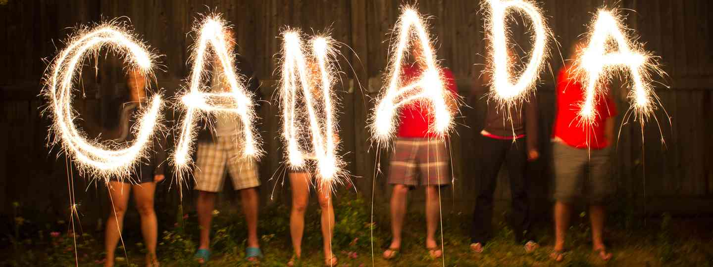 Celebrating Canada Day (Shutterstock: see credit below)