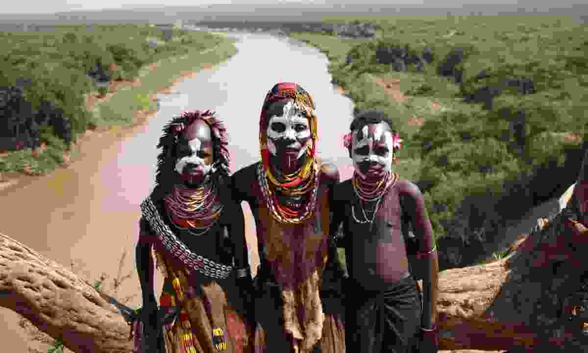 Ethiopian tribespeople (Dreamstime)