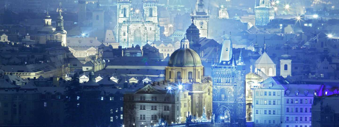 Overview of Prague at night (Shutterstock: see credit below)