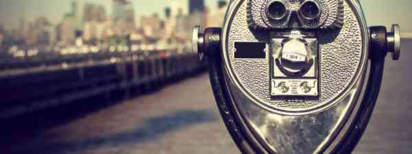 Tourist binoculars, Liberty Island (Shutterstock: see credit below)