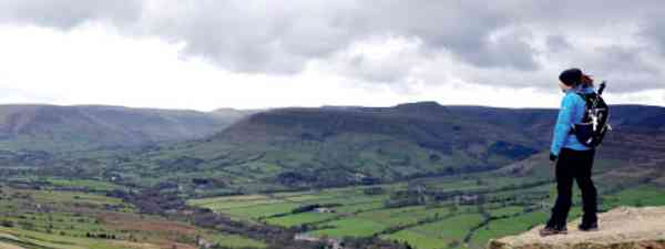 Back Tor is a good place to gaze down on Edale (Phoebe Smith)