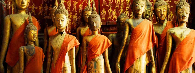 Buddha statues in Wat Xieng Thong, Luang Prabang (Shutterstock)