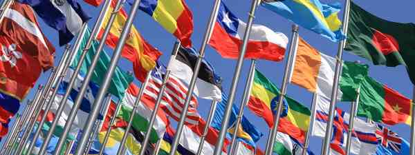 Flags of the world (Shutterstock.com. See credit below)