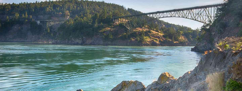 Early Light at Deception Pass Bridge (Shutterstock)