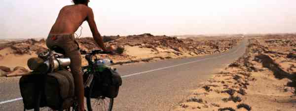 Cycling in the desert (Charlie Walker)