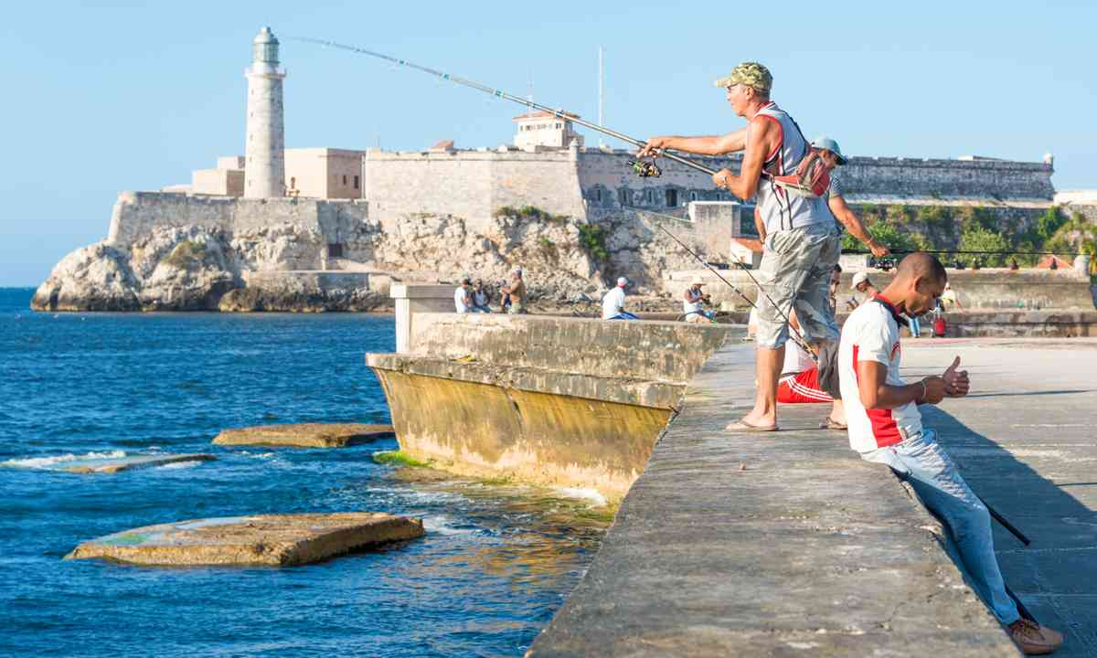 Fishing near El Morro castle, Havana (Dreamstime.com)