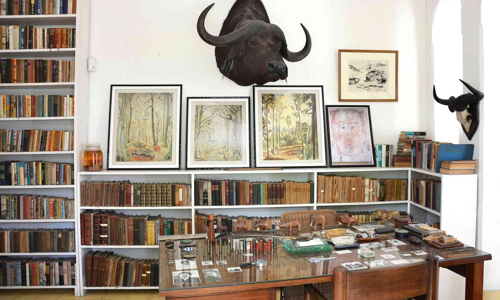 Hemingway's library at Finca Vigia (Dreamstime.com)