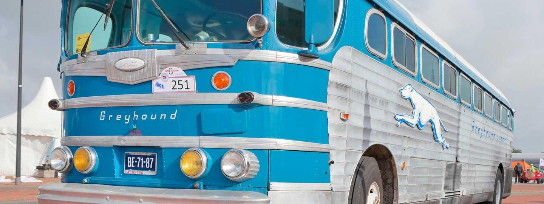 Old Greyhound bus (Shutterstock: see credit below)
