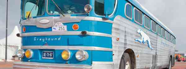 Old Greyhound bus (Shutterstock: see credit below)