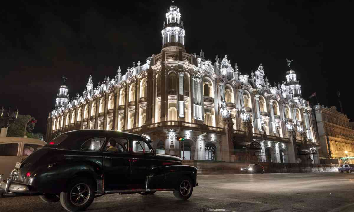 The National Theatre in Havana at night (Dreamstime.com)