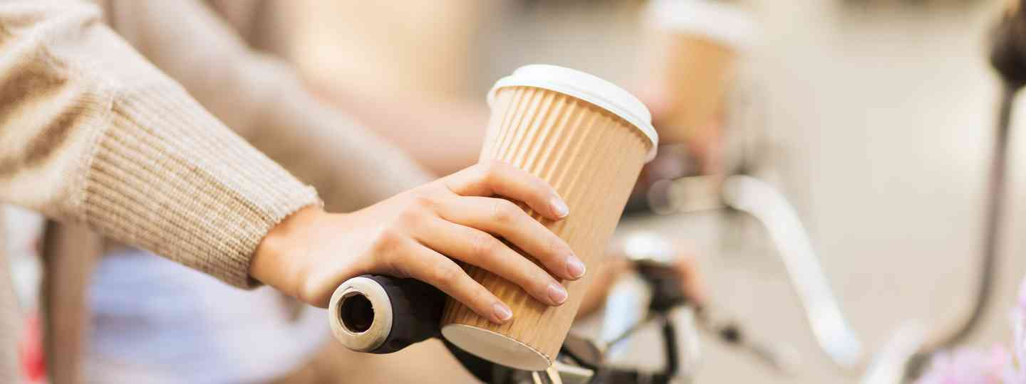 Coffee and cycling (Shutterstock: see main credit below)
