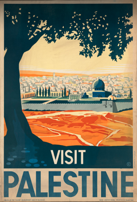 Visit Palestine poster (Boston Library Collection)
